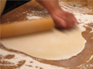 Rolling the Pierogi Dough