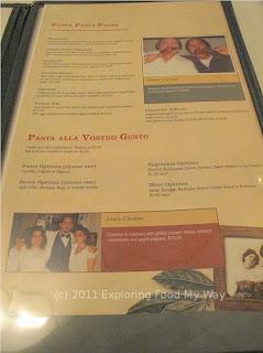 Casa Perfetto's Menu Page 3