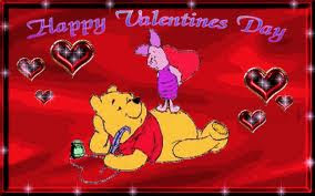 Pooh Happy Valentines Day Card