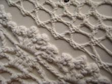 Detalj av tekstilavtrykk