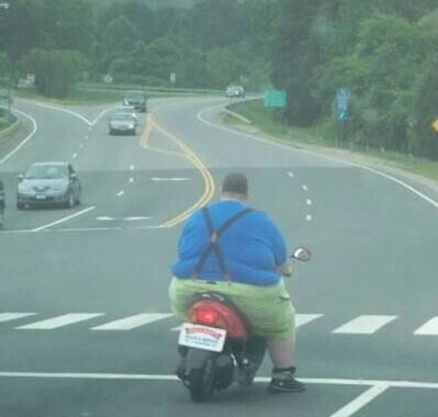 fat guy motorcycle