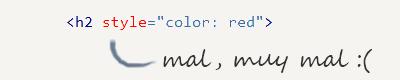 No uses estilos inline