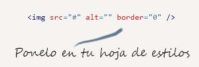 Usa los border solo en el CSS