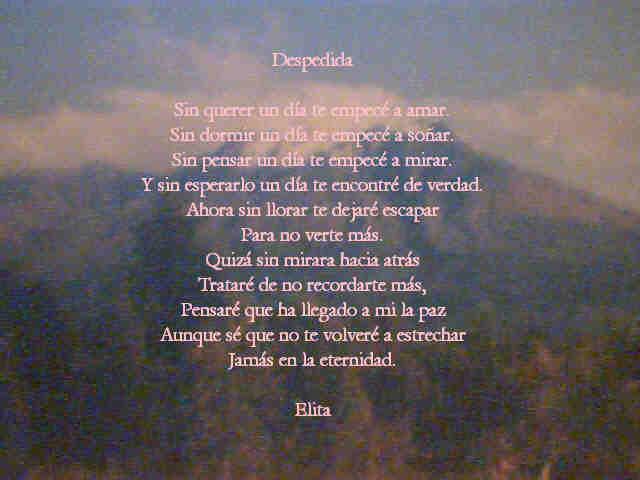 Eclipse Amor Poema Despedida