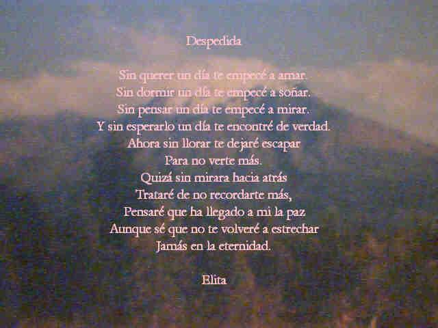 Poemas De Amor Despedida