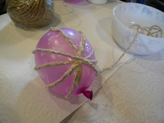 DIY Jute Ball Christmas Ornaments