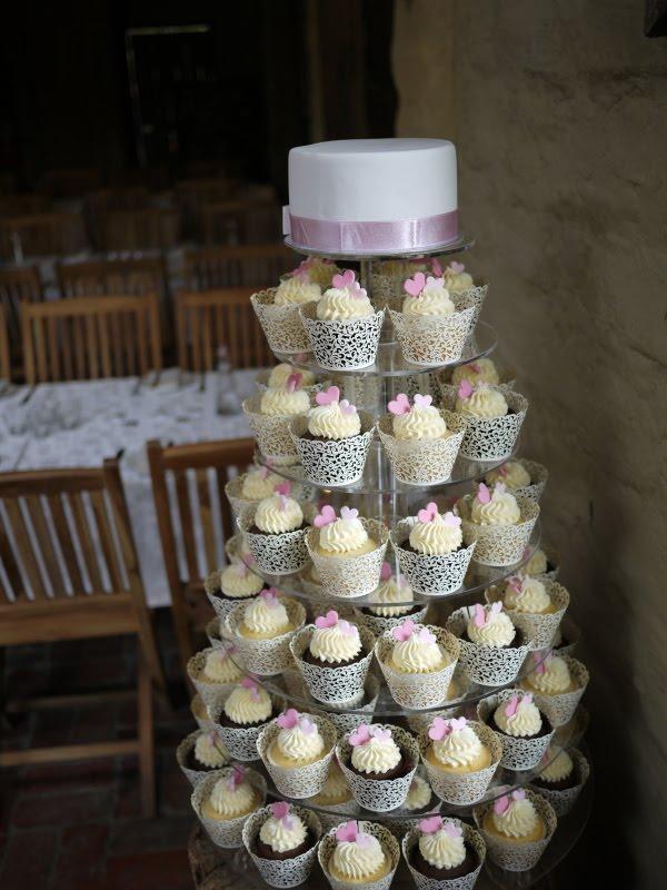 Rowena Chris 39 Wedding Cupcake Tower at a gorgeous venue Gum Gully Farm
