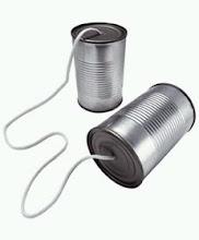 TELEFONO FABRICADO CON DOS BOTES