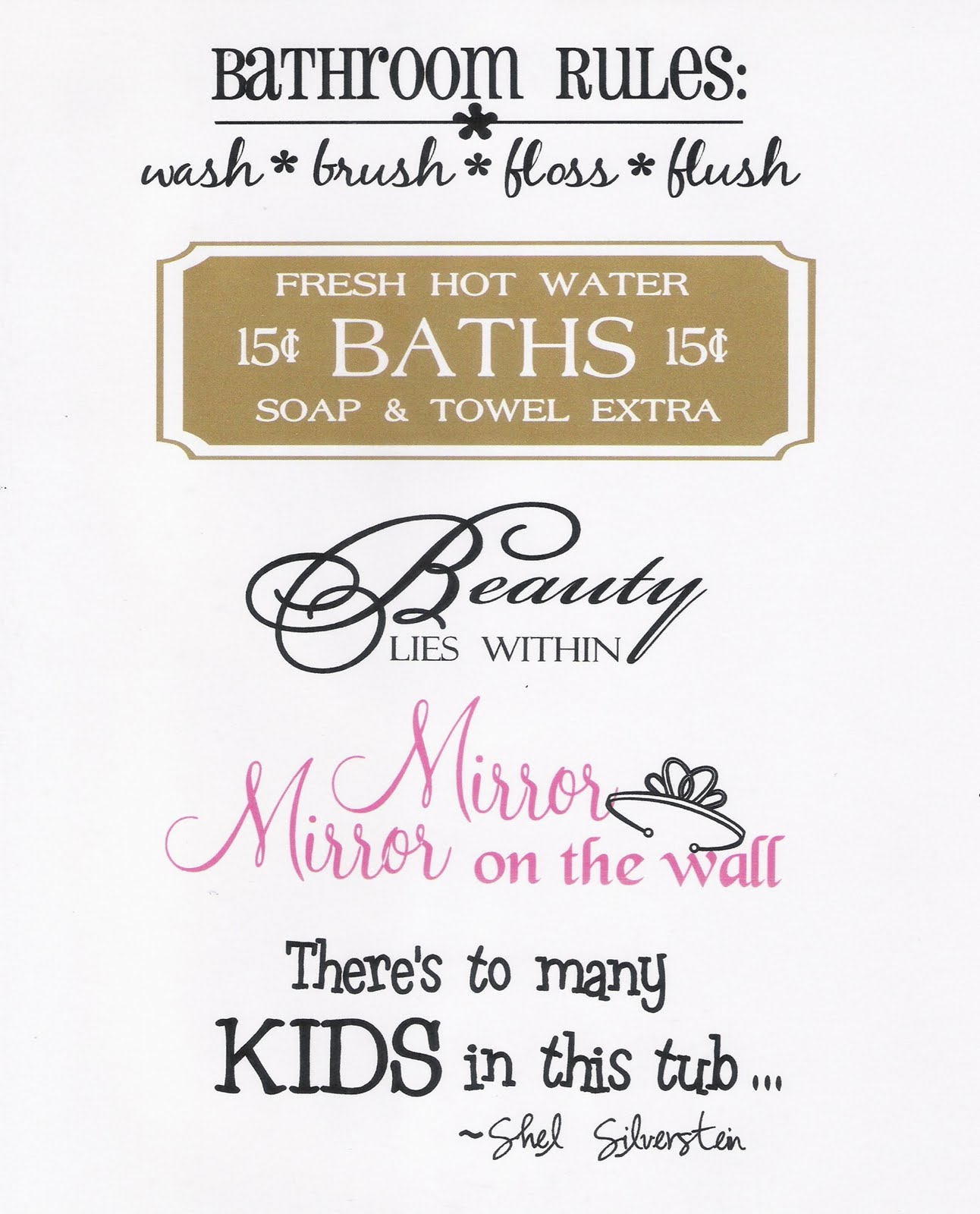 bathroom quotes and sayings quotesgram
