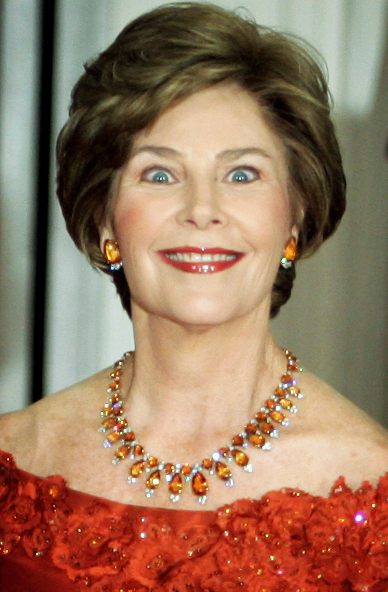 funny pics of laura bush