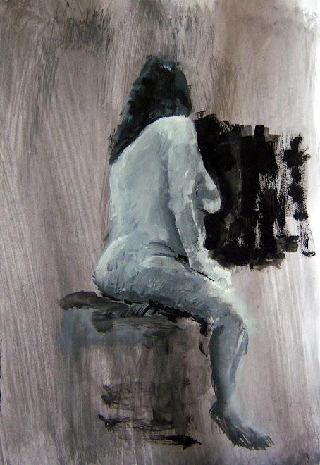 Alma sentada de espaldas, desnuda
