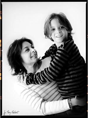 Portrait de Famille, portrait d'enfant, en noir et blanc.