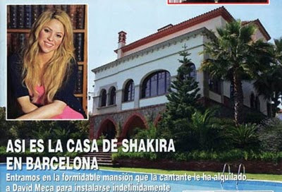 Shakira y su casa de Barcelona Piqué