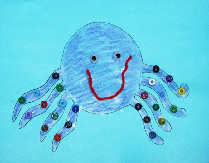 Preschool storytime crafts octopus for Octopus craft for preschool