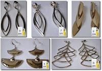 Brincos inspirados nas jóias usadas pelas personagens Drª Alma (Giovanna Antonelli) da novela Três Irmãs e Duda (Tania Khalill) da novela Caminho das Índias