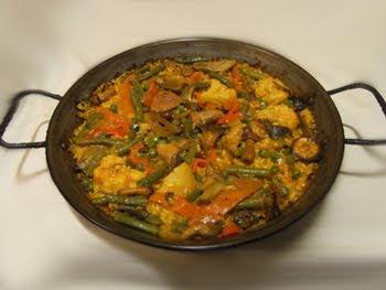 Receta Paella Vegetariana