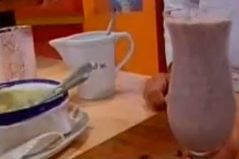 Receta Milkshake de Frutillas con galletas de Chocolate