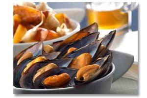 Recetas Mariscos Choritos en salsa