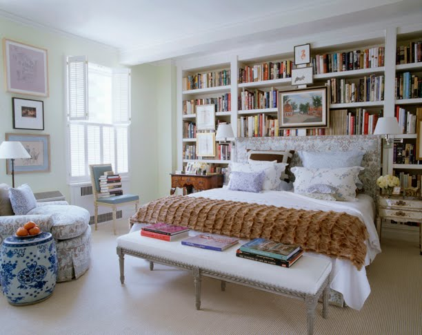 mel likes i need a bedroom with bookshelves like these