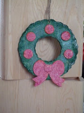 A Wooden Wreath Decoration