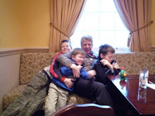 Alden David me and Peter having a group hug