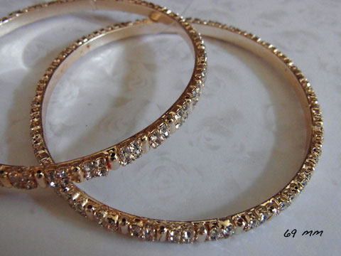 gold crystal bangle 2
