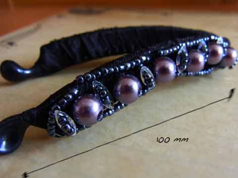 pearl crystal hairclip