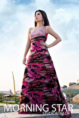 kim liza with new feshion dress