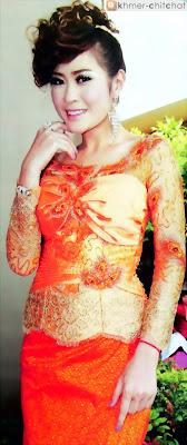 kol davy khmer actress in custom dress