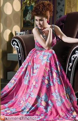 chhit socheata khmer model in new fashion dress