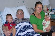 Great Grandpa Baxter with Jennifer and kids