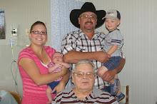 Great Grandpa, Grandpa, Jamie and kids