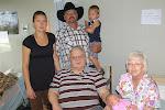 Great Grandpa,Great Grandma, Grandpa Dennis, Jennifer and kids
