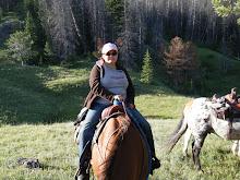 Jannica riding Ariel