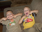 Jayden and Syrus making faces