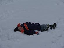 Jayden making snow angels