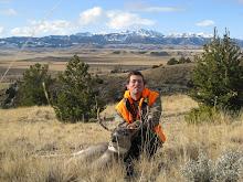 Jesse with his buck deer