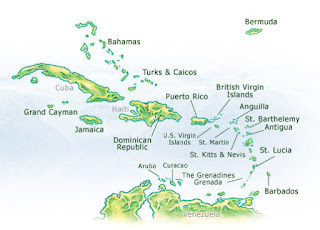 fre southern map maps cha carribean
