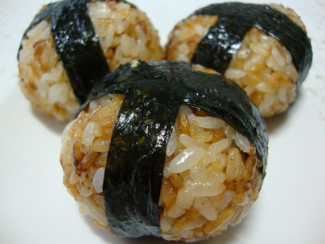 My Culinary Memoirs: Yaki Onigiri (filled with Tamogoyaki)