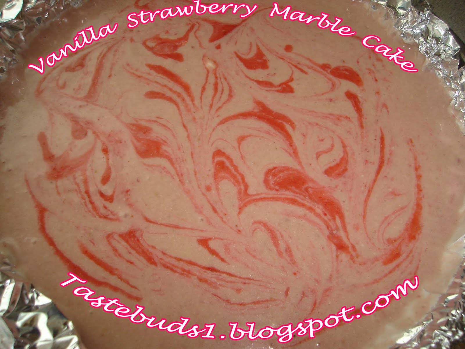 Taste Buds: Vanilla Strawberry Marble Cake