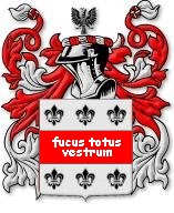 The family coat of arms - motto: fuckium totus vestrum
