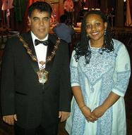 Miranda Grell with the Mayor of Waltham Forest