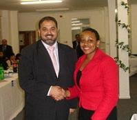 Miranda Grell with Lord Ahmed