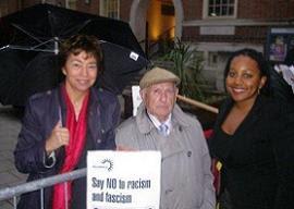 Miranda Grell with Nicky Gavron
