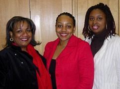 Miranda Grell with Dianne Abbott and Dawn Butler