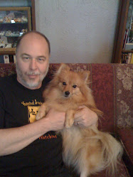 Brian and his Pomeranian, Miss Betsey Trotwood