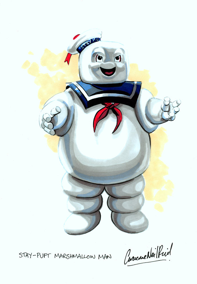 Minecraft Stay Puft Marshmallow Man-Ghostbusters Skin