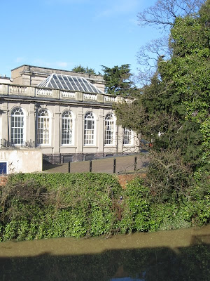 Leamington Pump Rooms viewed across the river