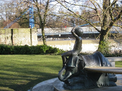 View of the weir from Jephson Gardens