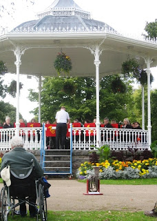 Band playing on the bandstand